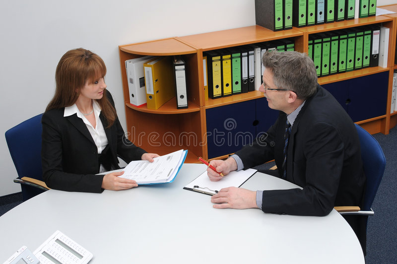 εργασία συνέντευξης στοκ εικόνες με δικαίωμα ελεύθερης χρήσης