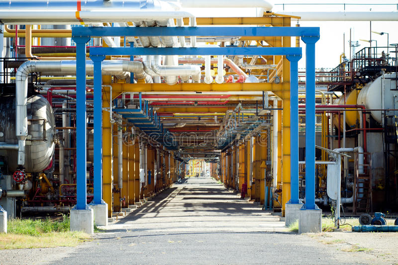 εργασία σωλήνων βιομηχανί στοκ φωτογραφία με δικαίωμα ελεύθερης χρήσης