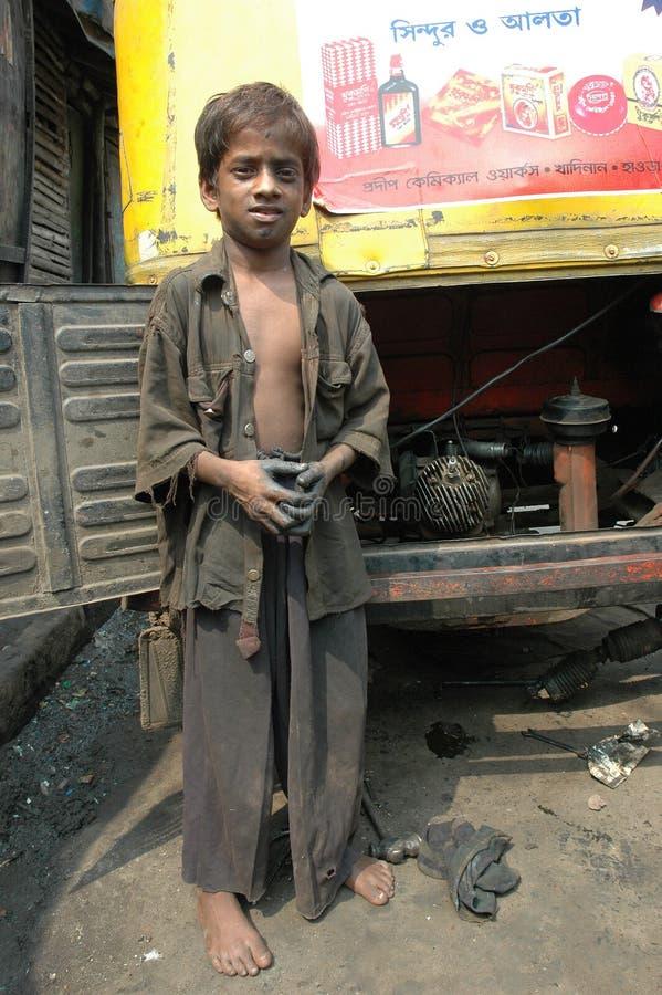 εργασία της Ινδίας παιδιώ& στοκ εικόνες