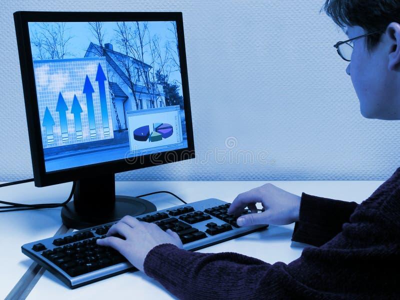 εργασία υπολογιστών στοκ εικόνα