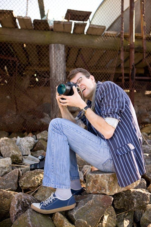 εργασία φωτογράφων φωτο&gam στοκ εικόνες με δικαίωμα ελεύθερης χρήσης