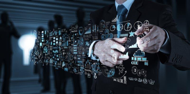 Εργασία χεριών επιχειρηματιών στοκ εικόνες με δικαίωμα ελεύθερης χρήσης