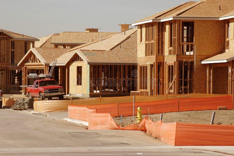 εργασία truck περιοχών κατοικίας κατασκευής στοκ φωτογραφίες