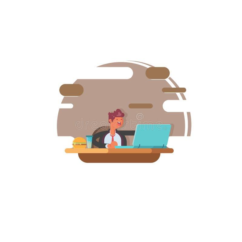 Εργασίες υπεύθυνων για την ανάπτυξη Ιστού για το lap-top γραφείο επιχειρηματιών η &si απεικόνιση αποθεμάτων