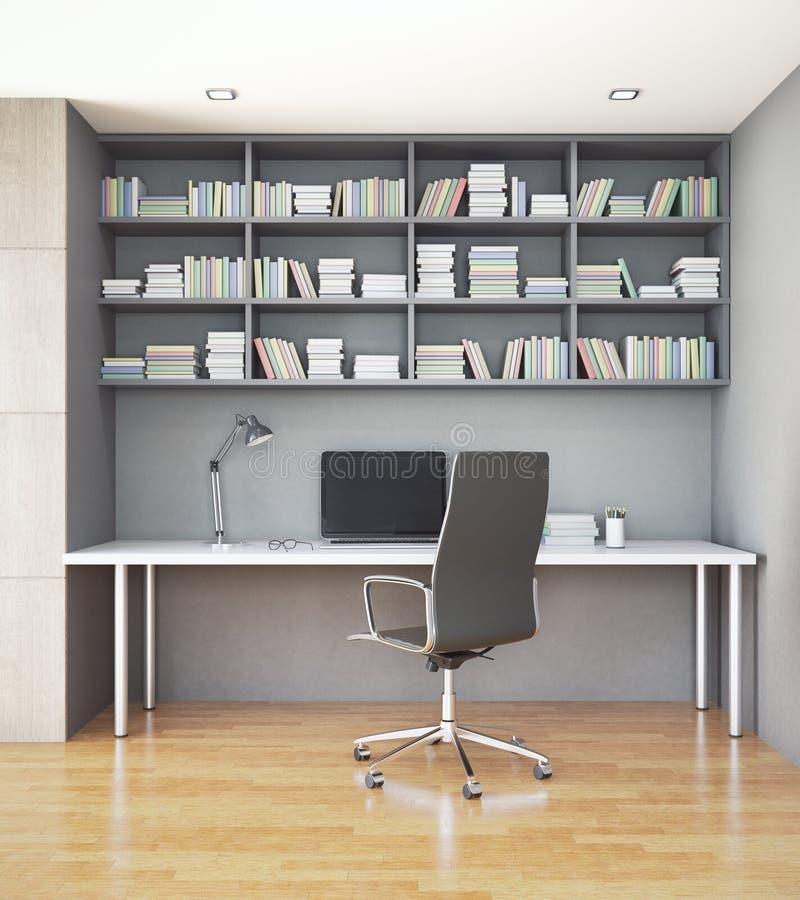 Εργασιακός χώρος στο εσωτερικό ελεύθερη απεικόνιση δικαιώματος