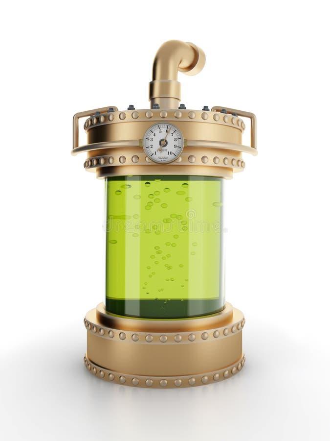 εργαστήριο μπουκαλιών steampun απεικόνιση αποθεμάτων