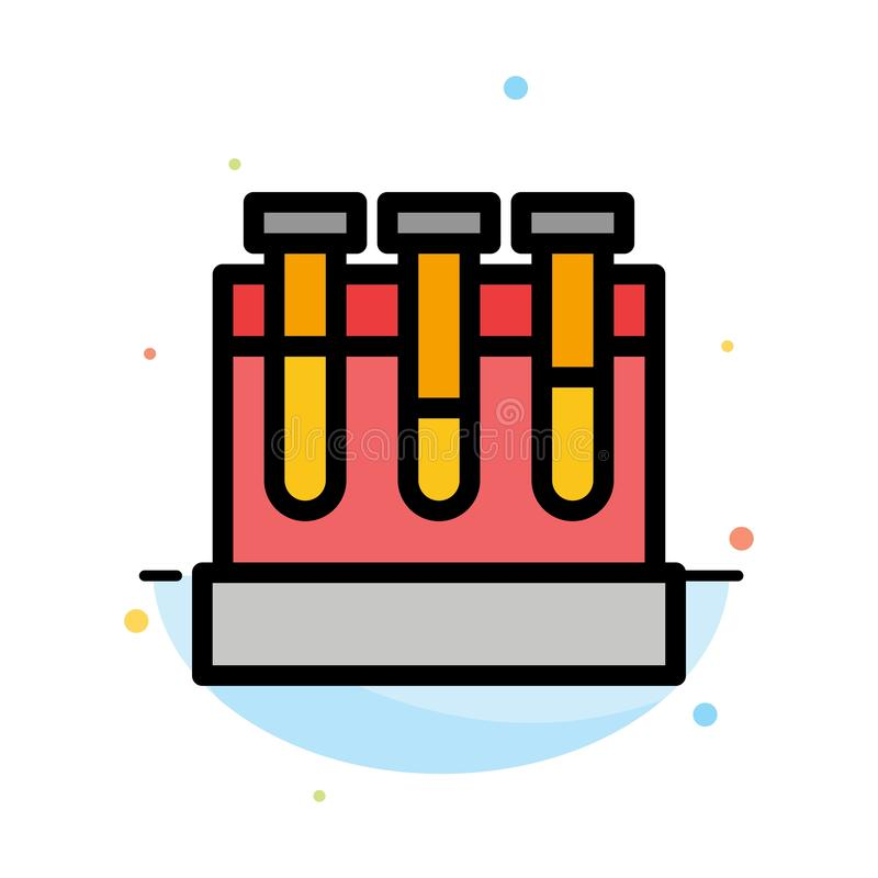 Εργαστήριο, σκάφες, δοκιμή, αφηρημένο επίπεδο πρότυπο εικονιδίων χρώματος εκπαίδευσης διανυσματική απεικόνιση