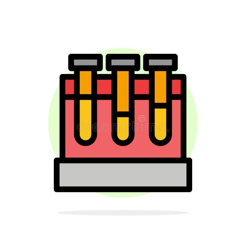 Εργαστήριο, σκάφες, δοκιμή, εκπαίδευσης αφηρημένο κύκλων εικονίδιο χρώματος υποβάθρου επίπεδο ελεύθερη απεικόνιση δικαιώματος