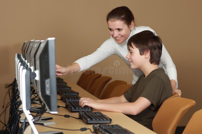 εργαστήριο υπολογιστών στοκ φωτογραφία