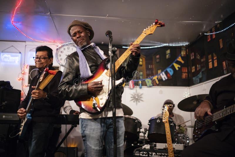 Εργαστήριο Franklin Bell's Blues, Λος Άντζελες, Καλιφόρνια/ΗΠΑ στοκ εικόνες