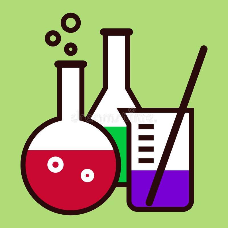 Εργαστηριακά γυαλικά απεικόνιση αποθεμάτων