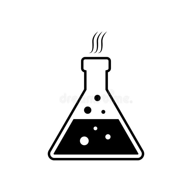 Εργαστηριακά χημικά γυαλικά διανυσματική απεικόνιση
