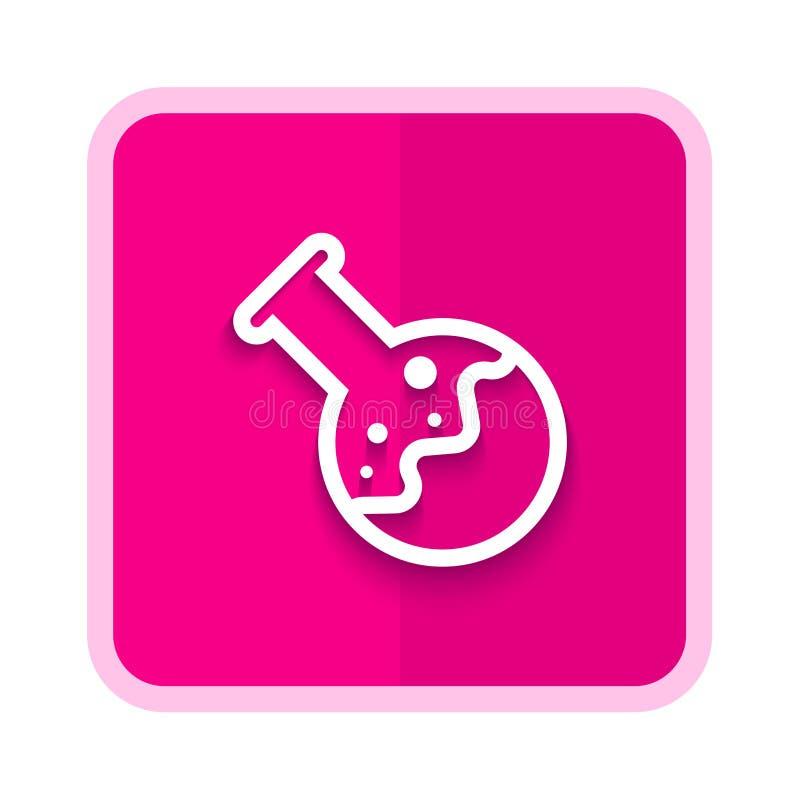 εργαστηριακό ρόδινο κουμπί ελεύθερη απεικόνιση δικαιώματος