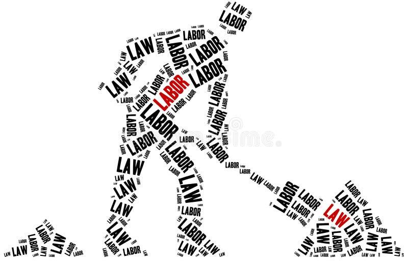 Εργατικός νόμος Έννοια σχετική με τους διαφορετικούς τομείς του νόμου διανυσματική απεικόνιση