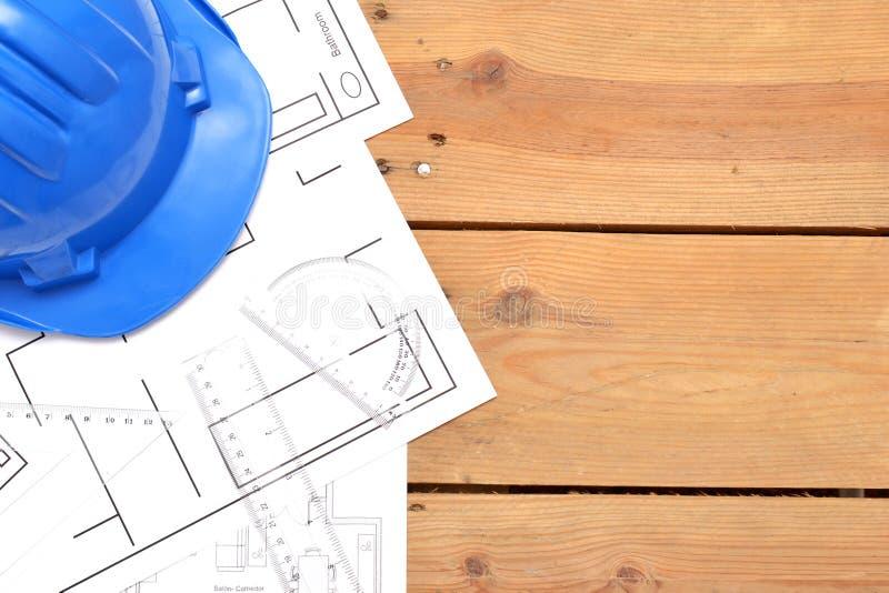 Εργαλεία για τα κατασκευαστικά σχέδια στοκ εικόνες