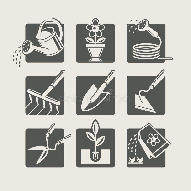 Εργαλεία κήπων. απεικόνιση αποθεμάτων