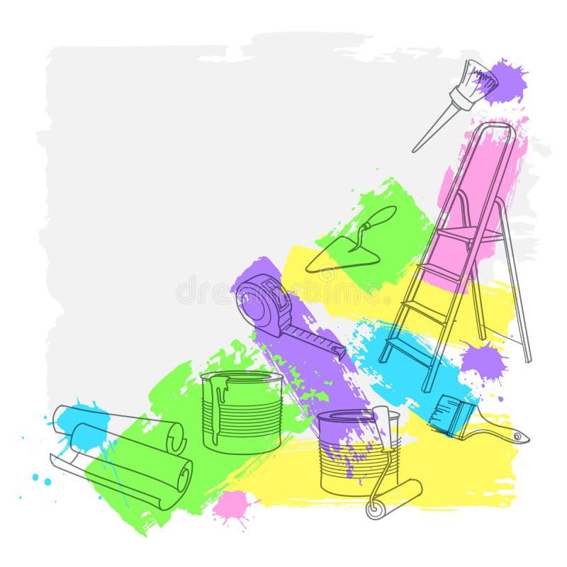 Εργαλεία κατασκευής και επισκευής επίσης corel σύρετε το διάνυσμα απεικόνισης απεικόνιση αποθεμάτων