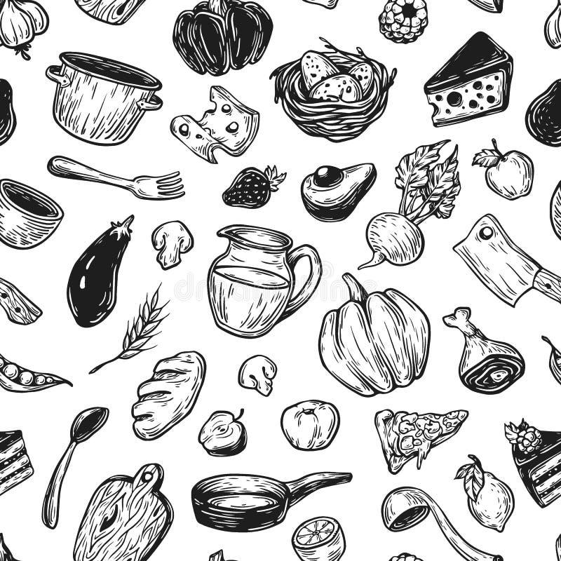 Εργαλεία μαγειρέματος και κουζινών ελεύθερη απεικόνιση δικαιώματος