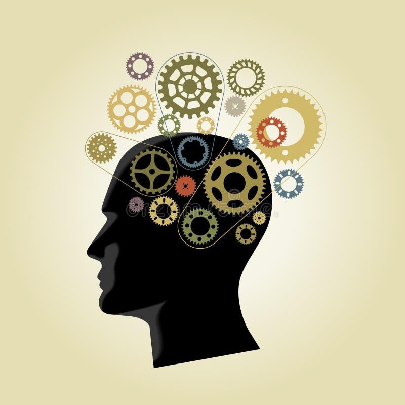 Εργαλεία μυαλού διανυσματική απεικόνιση