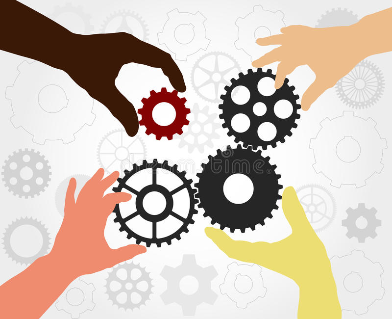 Εργαλεία ομαδικής εργασίας - διάνυσμα ελεύθερη απεικόνιση δικαιώματος