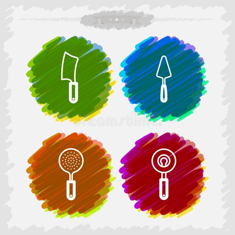 Εργαλεία λουτρών διανυσματική απεικόνιση