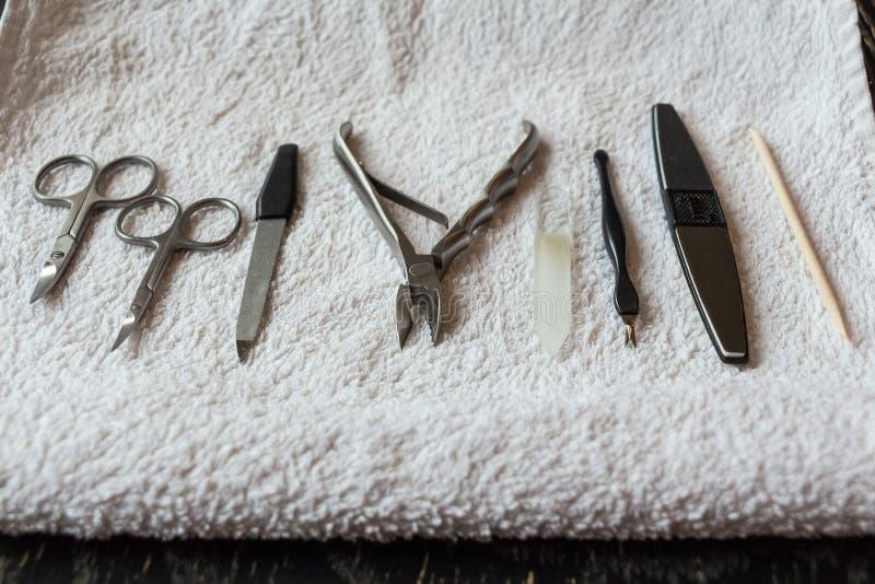 Εργαλεία προσοχής καρφιών στοκ φωτογραφίες