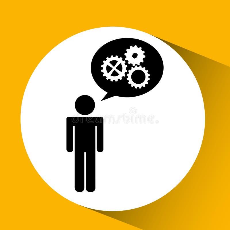 εργαλεία στο τετραγωνικό απομονωμένο κουμπί σχέδιο εικονιδίων ελεύθερη απεικόνιση δικαιώματος