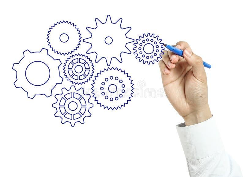 Εργαλεία σχεδίων επιχειρηματιών στοκ εικόνες