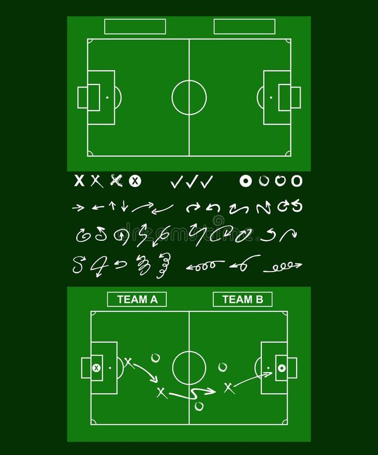 Εργαλεία της τακτικής ποδοσφαίρου απεικόνιση αποθεμάτων