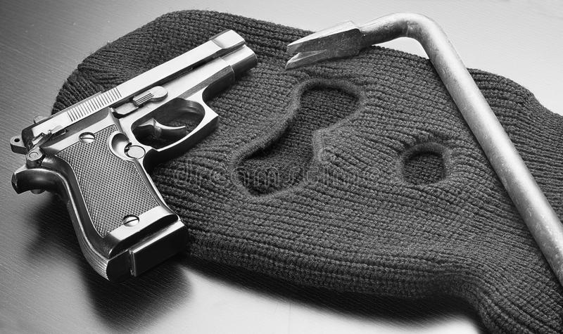 Εργαλεία του εγκλήματος στοκ εικόνες