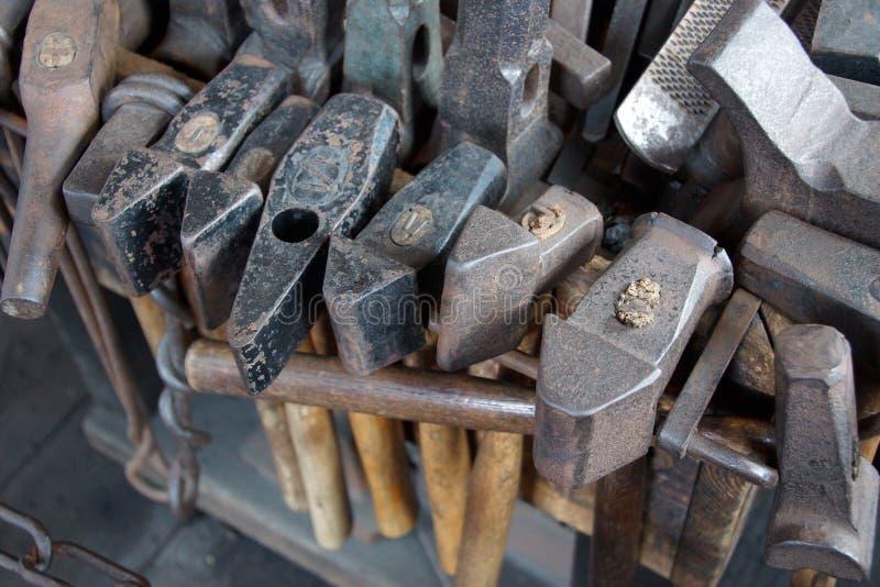 Εργαλεία του σιδηρουργού στοκ εικόνες