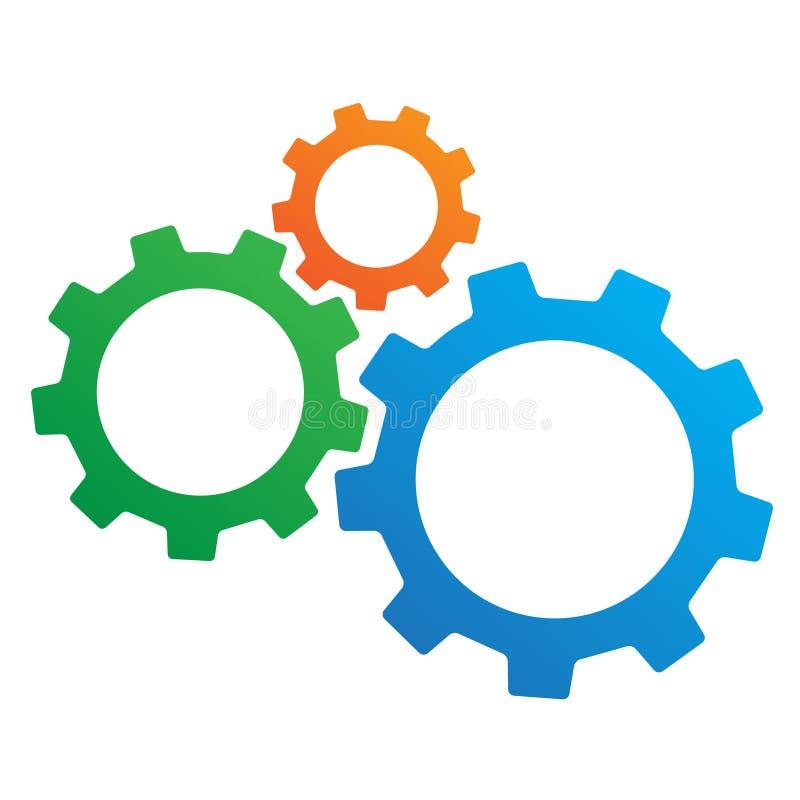 εργαλεία τρία διανυσματική απεικόνιση