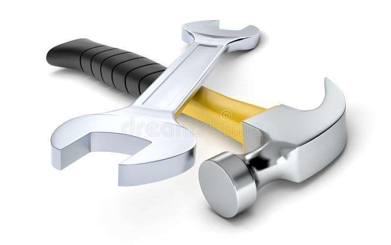 Εργαλεία υλικού, έννοια diy διανυσματική απεικόνιση
