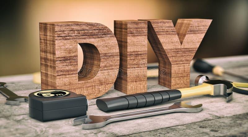 Εργαλεία υλικού, έννοια diy ελεύθερη απεικόνιση δικαιώματος