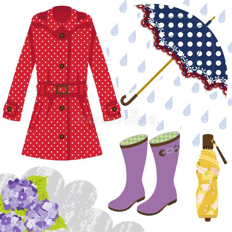 Εργαλείο βροχής για τις γυναίκες ελεύθερη απεικόνιση δικαιώματος