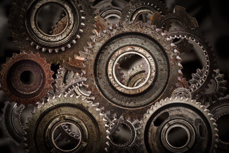 Εργαλείο Grunge, υπόβαθρο μηχανισμών ροδών βαραίνω Βιομηχανία, επιστήμη στοκ εικόνες