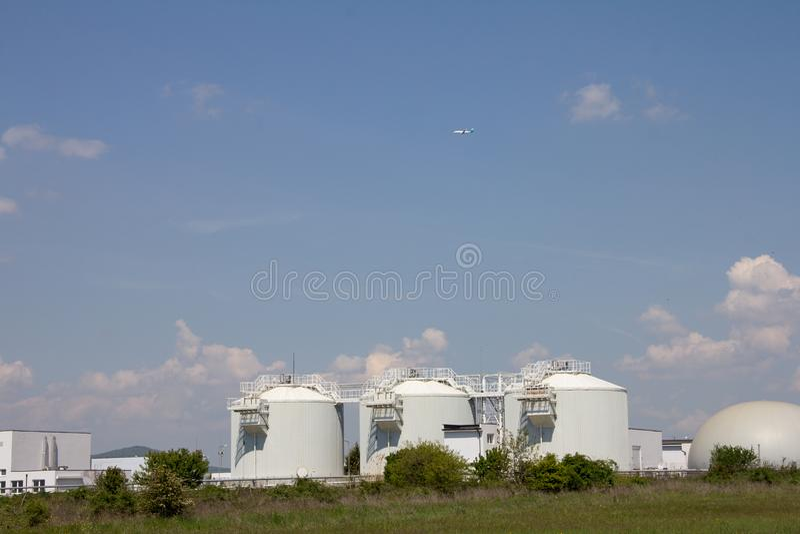 Εργοστάσια επεξεργασίας λυμάτων στοκ εικόνα
