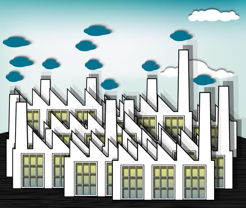 εργοστάσια ελεύθερη απεικόνιση δικαιώματος
