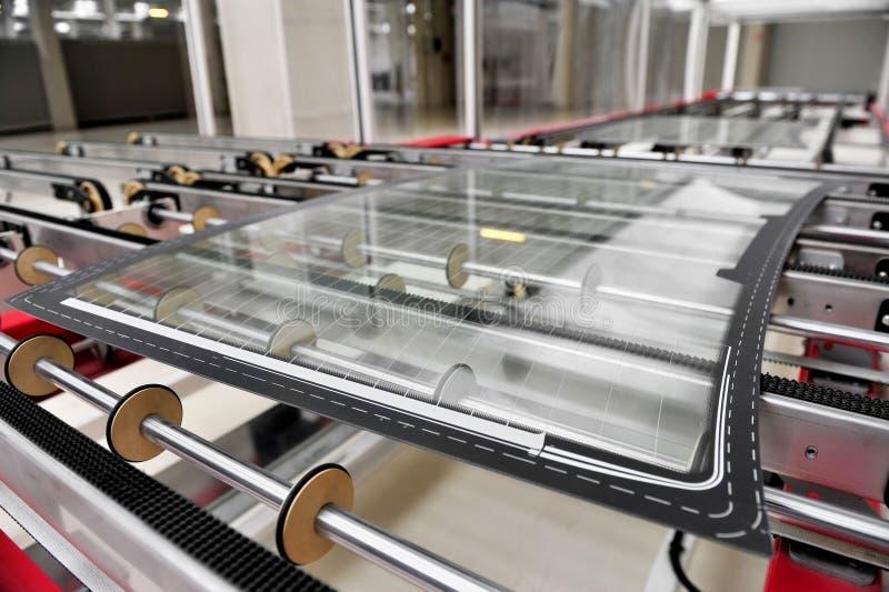 Εργοστάσιο γυαλιού αυτοκινήτων στοκ εικόνα με δικαίωμα ελεύθερης χρήσης