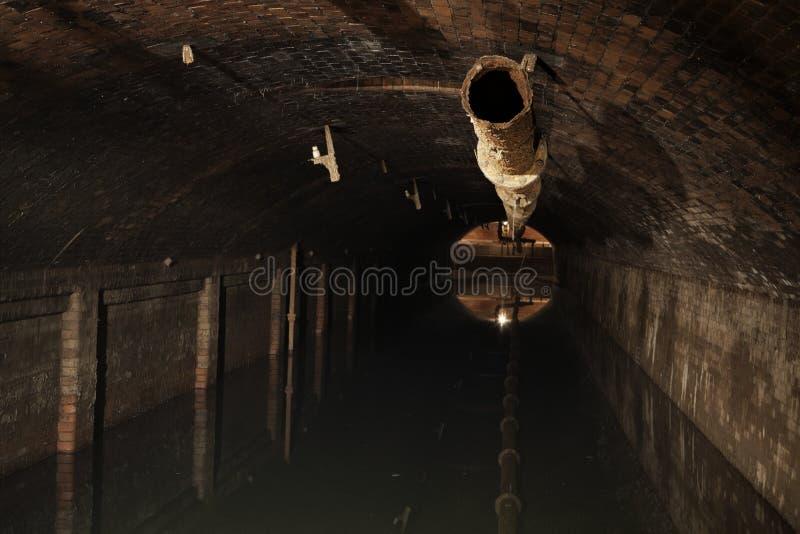 Εργοστάσιο επεξεργασίας λυμάτων στοκ φωτογραφίες