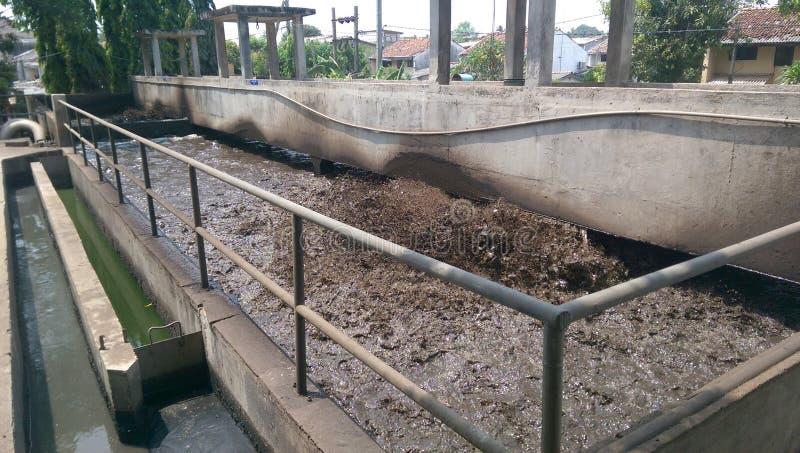 Εργοστάσιο επεξεργασίας νερού αποβλήτων στη Σρι Λάνκα στοκ εικόνες
