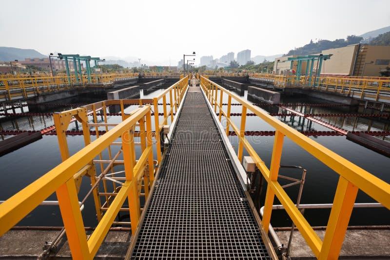 Εργοστάσιο επεξεργασίας λυμάτων στοκ φωτογραφία