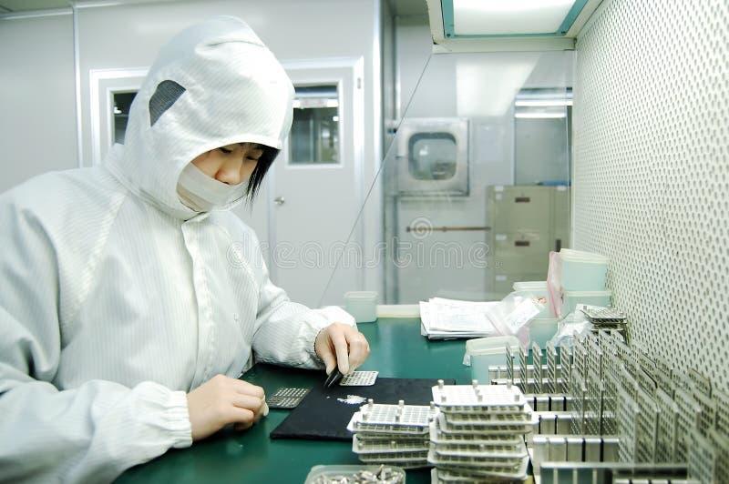 εργοστάσιο ηλεκτρονικής στοκ εικόνες
