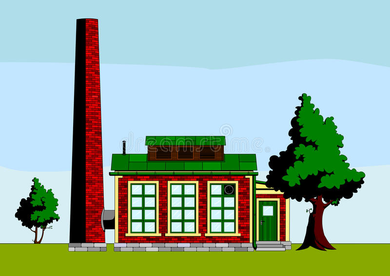 εργοστάσιο μικρό διανυσματική απεικόνιση