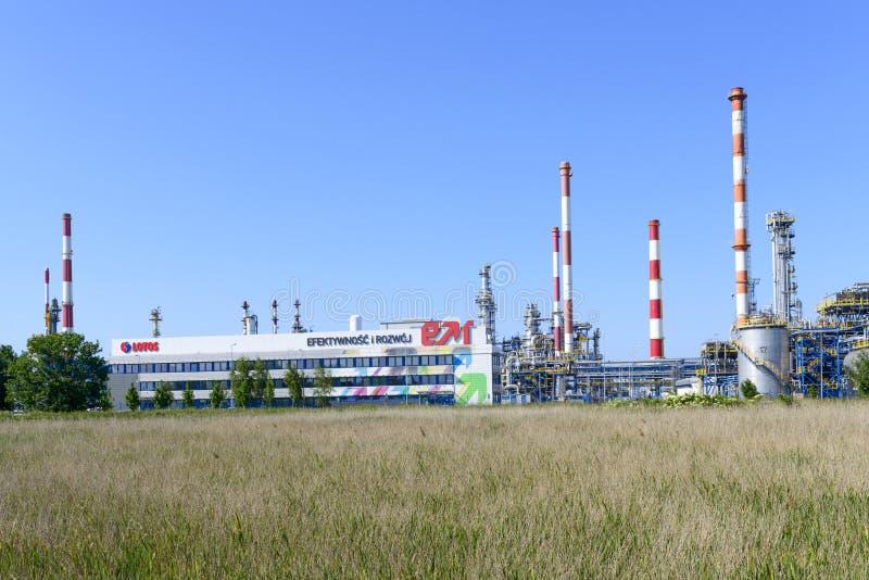 Εργοστάσιο πετροχημικών Lotos στοκ εικόνες
