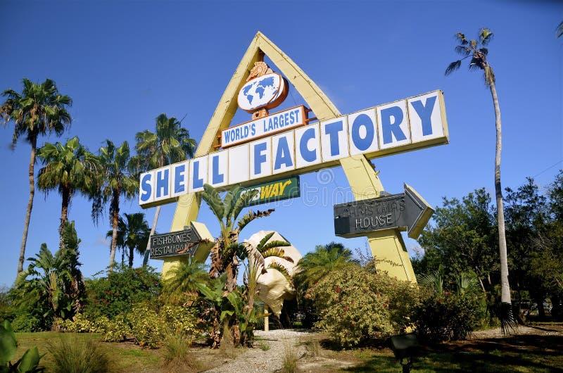 Εργοστάσιο της Shell θάλασσας της Φλώριδας στοκ εικόνες