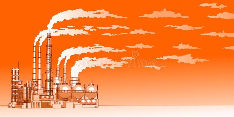 εργοστάσιο χημικής βιομ&e ελεύθερη απεικόνιση δικαιώματος