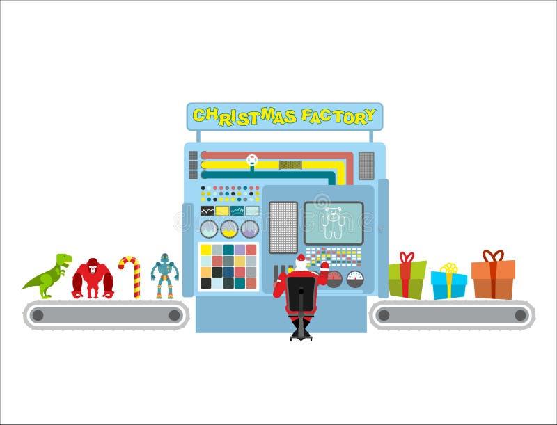 Εργοστάσιο Χριστουγέννων Αυτόματη γραμμή για την παραγωγή των δώρων Τύπος Γ ελεύθερη απεικόνιση δικαιώματος
