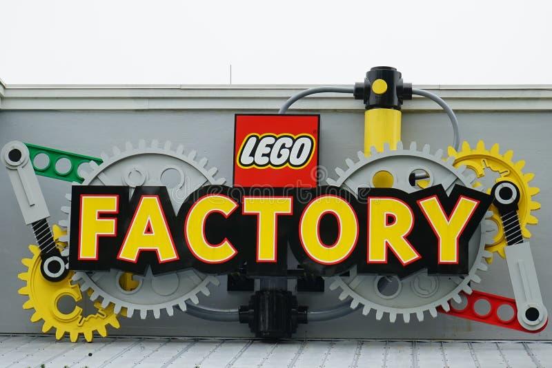 Εργοστάσιο Lego σε Legoland Φλώριδα στοκ φωτογραφία με δικαίωμα ελεύθερης χρήσης