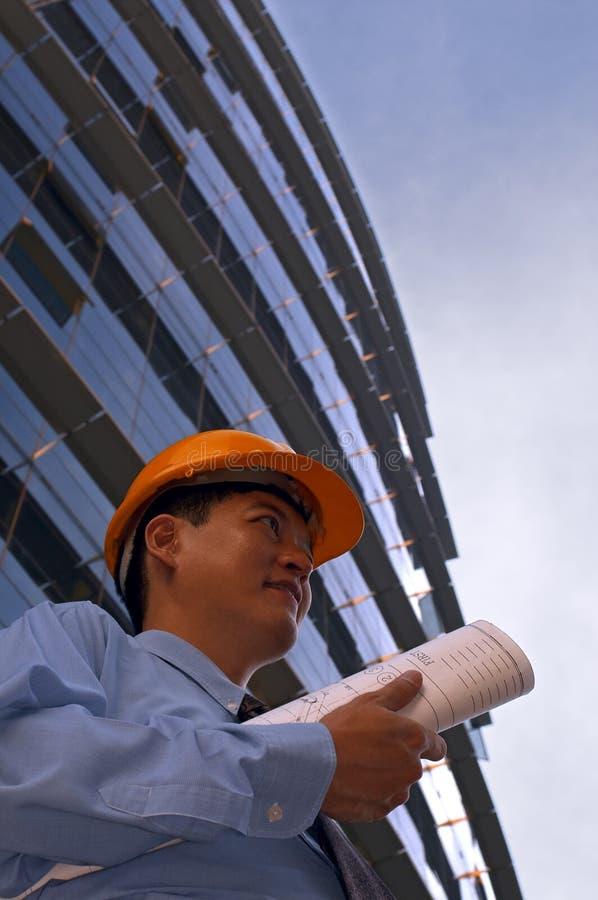 εργοτάξιο οικοδομής στον τρόπο στοκ εικόνα